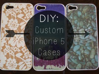 DIY: Custom iPhone 5 Cases ✂ ☆