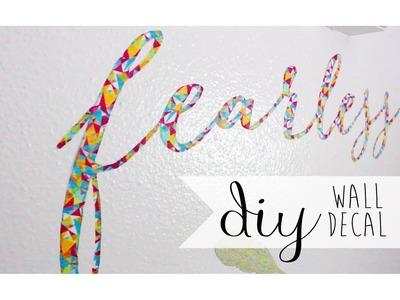 DIY Room. Dorm Decor: Wall Decal Using Washi Tape ❀