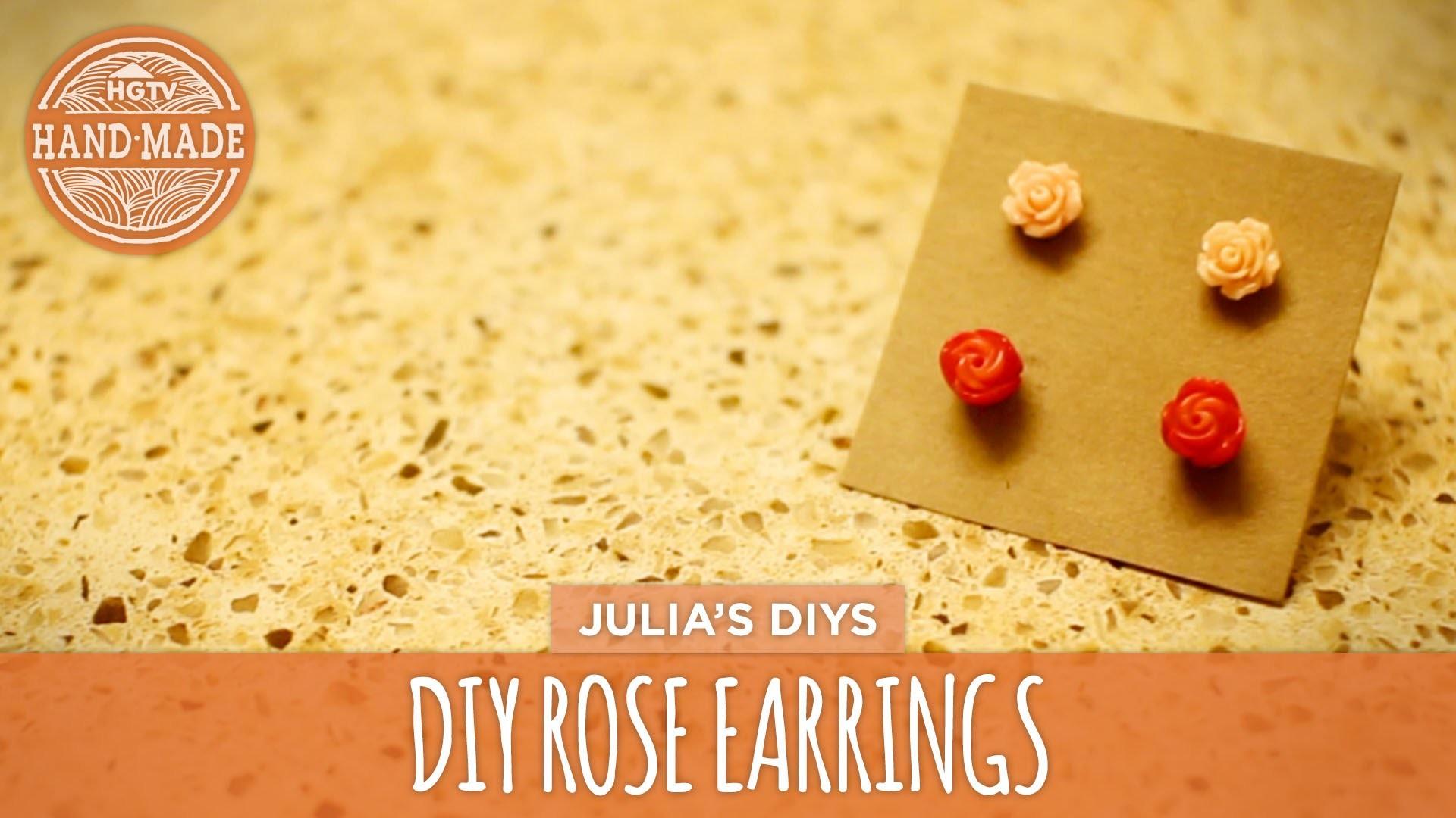 DIY Rose Earrings + Quick Jewelry Storage Tip! - HGTV Handmade