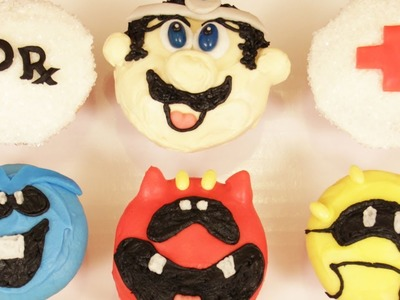 DR MARIO CUPCAKES - NERDY NUMMIES