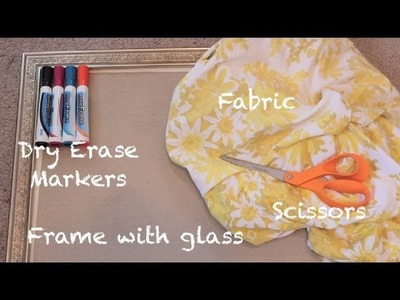 Easy DIY Personalized Marker Board (No Sew)- Whitney Sews