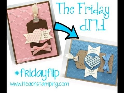 Friday Flip Handmade Baby Card For a Boy