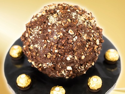 Giant Ferrero Rocher Cake from Cookies Cupcakes and Cardio