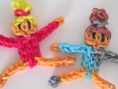 Gymnast Action Figurine.Figurine Rainbow Loom Tutorial
