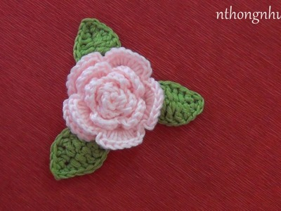 How to Crochet a Rose - Pattern 1 (Subtitle English)