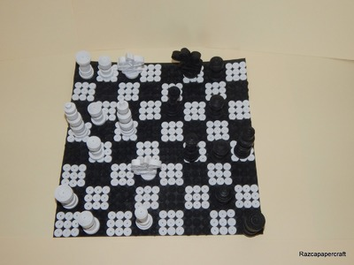 How to make 3d quilling chess set part3 ( quilling chess tower)
