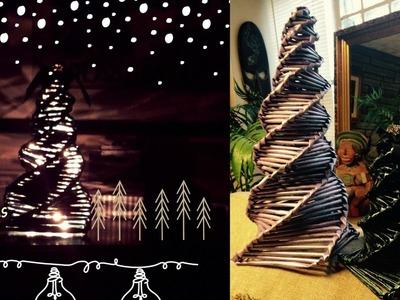 How to make a Paper Christmas Tree Tutorial (recycling newspaper)