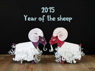 How to make a paper toy sheep for chinese new year