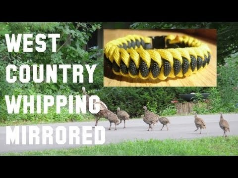 How to make a West Country Whipping Mirrored Paracord Bracelet Tutorial (Paracord 101)