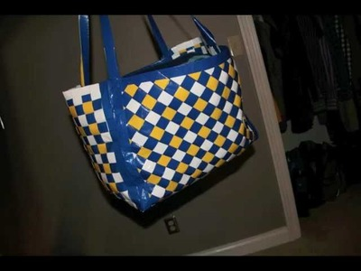 How to Make a Woven Duct Tape Bag!