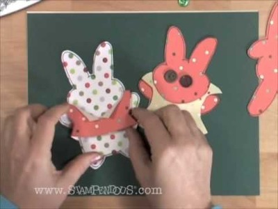 How to Make Bunny Paper Dolls With Stamps