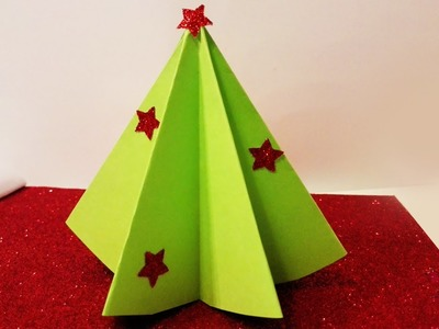 How to make christmas tree decoration with paper