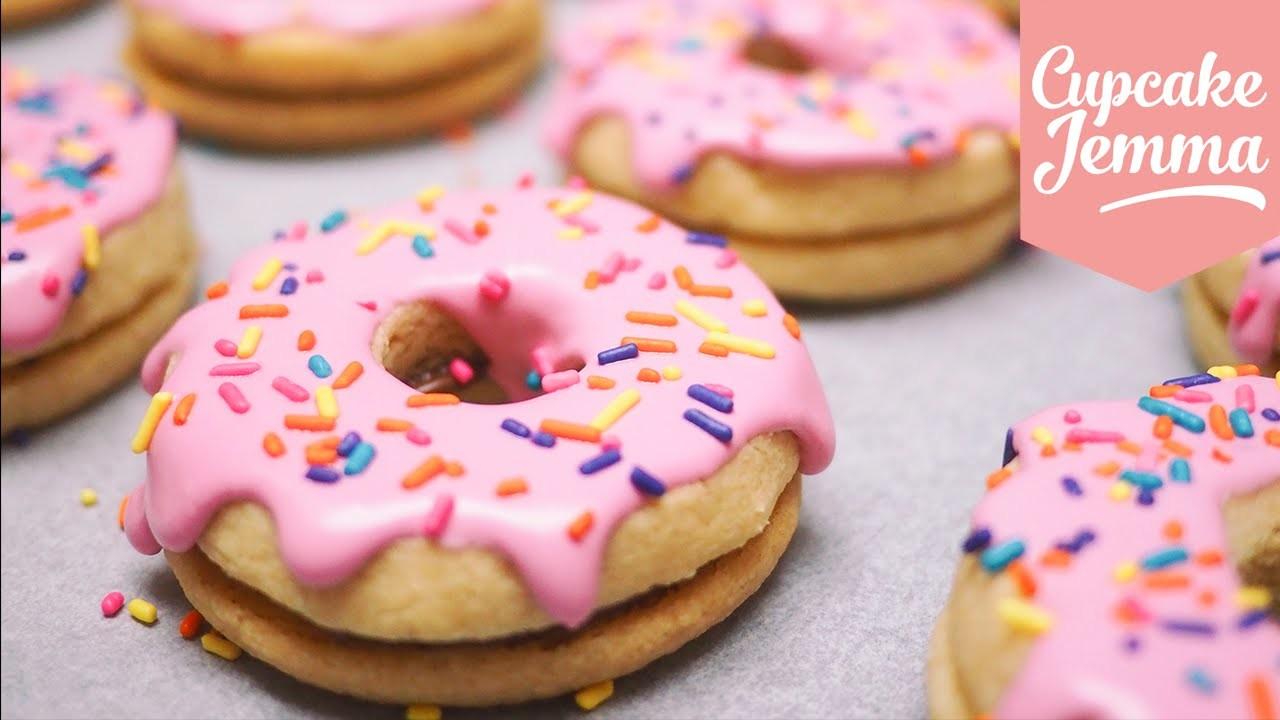 How to Make Doughnut Shortbread Cookies | Cupcake Jemma