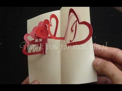 How To Make Linked Spiral Hearts - Valentine's Day Pop-up Card Tutorial