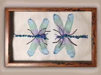 How to make silk ribbon embroidery dragonflies