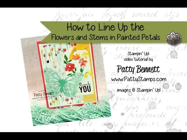 How To Stamp Painted Petals flowers and leaves - Stampin' Up!