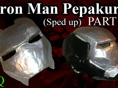 Iron Man Pepakura (Paper Mache & Sanding) Part 2