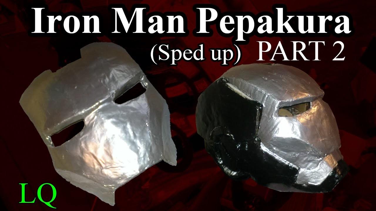 Iron Man Pepakura (Paper Mache & Sanding) Part 2