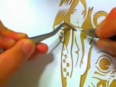 Kiri-e, Cutting art by KYAN-DOG