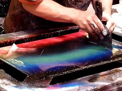 Las Vegas Spray Paint Artist Masumi Lutz - Night Scenery