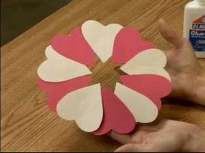 Making Valentine's Day Crafts for Kids : Making a Valentine's Day Heart Wreath for Kids