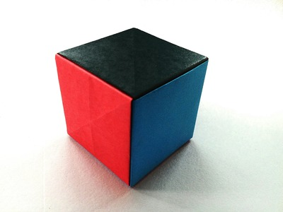 """Modular Origami - """"Simple Paper Cube"""" - Very easy, anyone can do !!"""