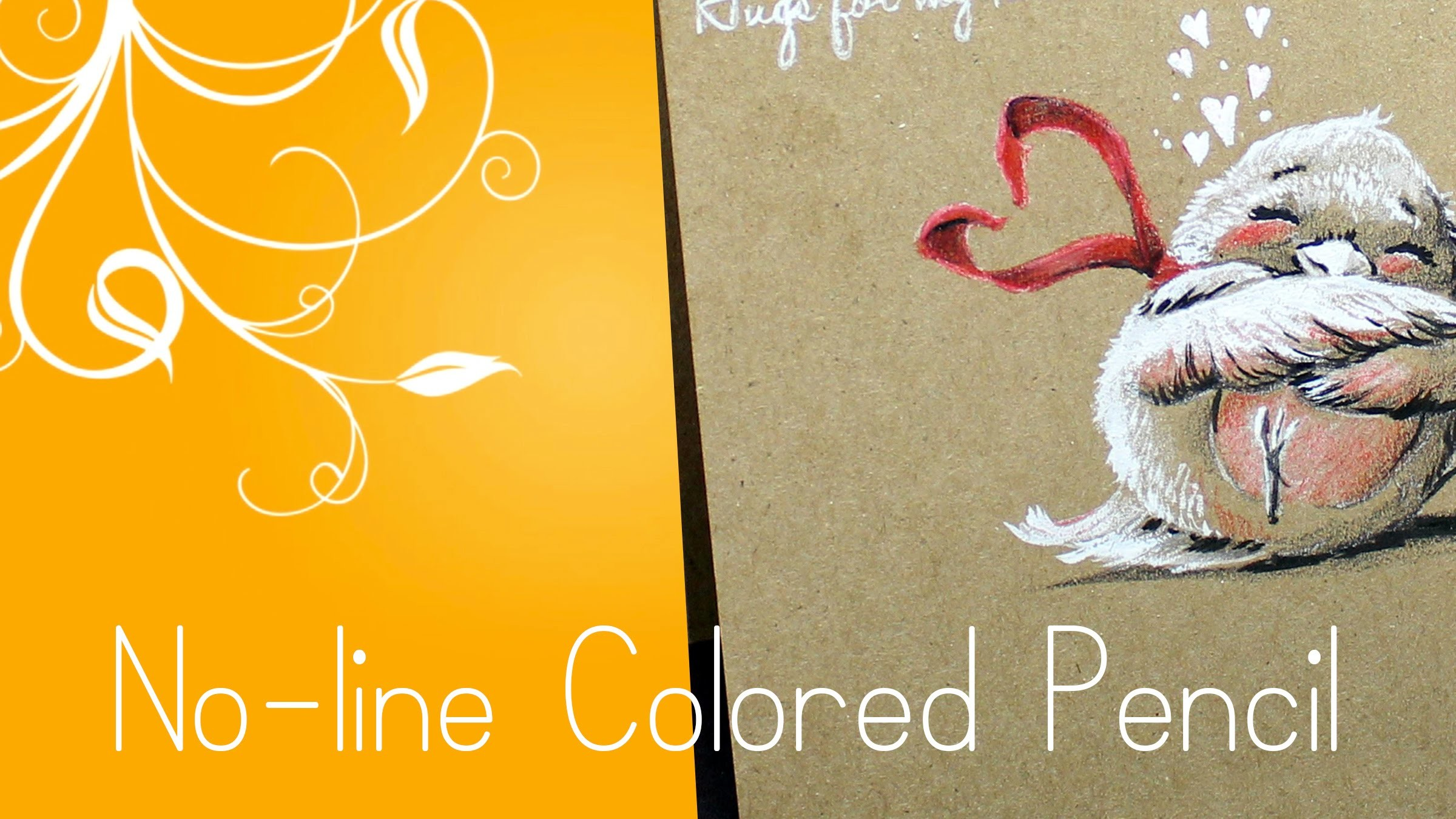 No-Line Colored Pencil Card