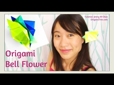 Paper Crafts - Origami Flower (Chinese Bell Flower) - Easy Paper Flower Tutorial