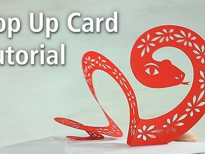 "Pop Up Card Tutorial ""Snake"""