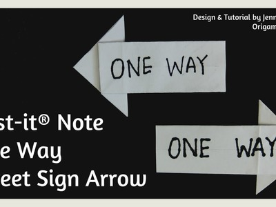 Post-it® Note Crafts - Origami Arrow | Paper Crafts