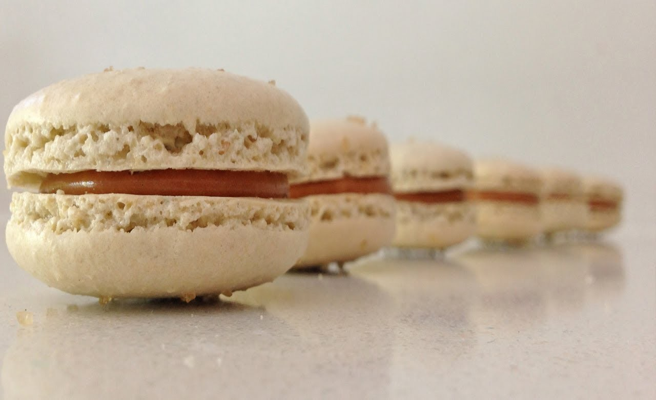 Salted Caramel Macaron Recipe HOW TO Cook That Ann Reardon