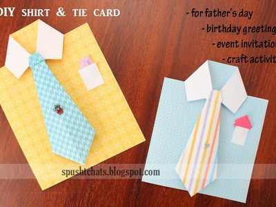 Shirt & Tie Greeting Card for Birthday, Father's Day