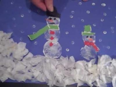 Snowman Craft with Potato Printing from Kit Bennett, AmazingMoms.com