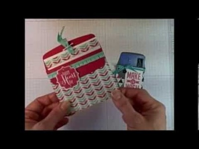 Stampin' Up! Envelope Liners Framelits Pocket Card.Treat Pocket Tutorial