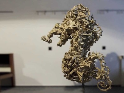 The Seahorse - A Papier-mâché Sculpture by Hazel Bryce