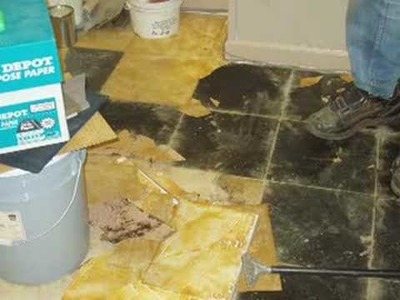 Tile Removal in Preparation for Concrete Floors