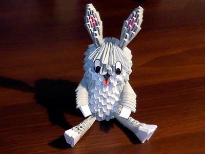 3D origami Bugs Bunny (rabbit) tutorial