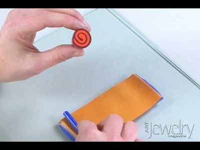 Art Jewelry - Making a polymer clay jellyroll cane