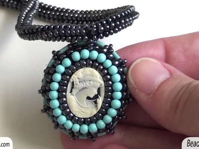 BeadsFriends: Beaded necklaces - Necklaces made using cabs, cameos and crochet ropes