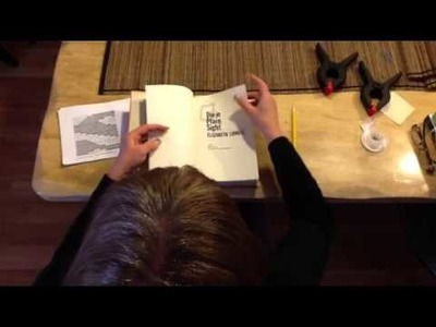 Book Folding with That Pattern Place - Step 2 - Where to st