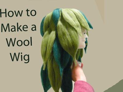 Cosplay Tutorial: Needle Felt a Wool Wig