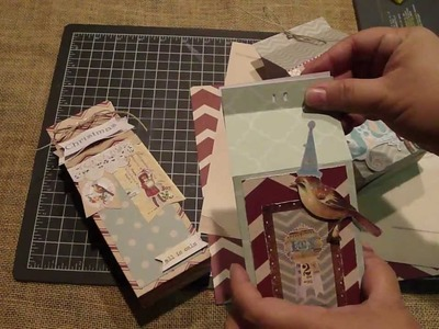 Create Gift Bags.Milk Cartons with two WRMK Punch Boards