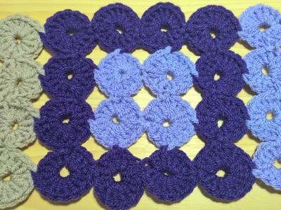 Crochet circles square