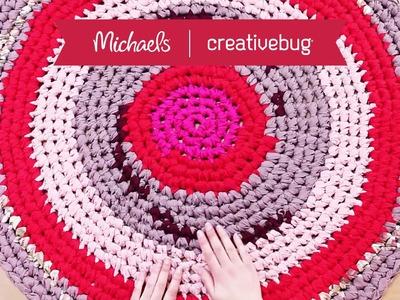 Crochet Rag Rug with Cal Patch | Creativebug