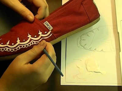 Custom Red Henna TOMS speed paint. time lapse