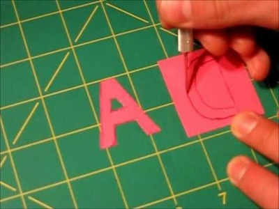 Cutting out Duct tape letters.numbers