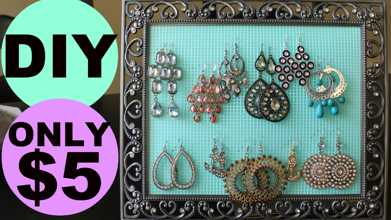 DIY Earring Holder for $5! SUPER Easy and cute! | Jordan Cheyenne