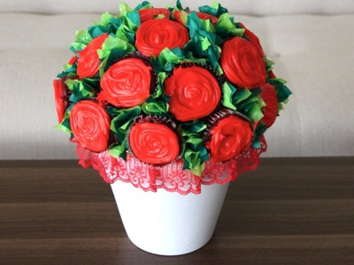 DIY- FLOWER CUPCAKE BOUQUET!