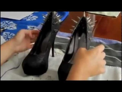 DIY - Gothic. Black Metal Shoes