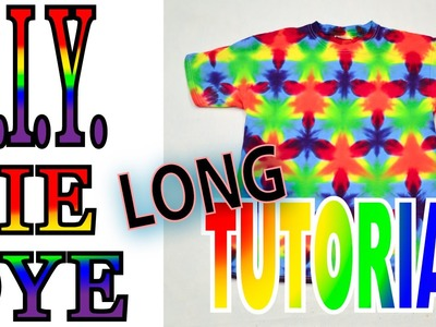 DIY Tie Dye a 60 60 60 Flag Fold on a shirt [Long Tutorial]